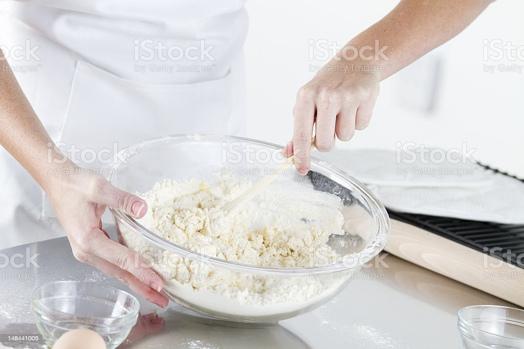 Mixing Cookie Dough royalty-free stock photo