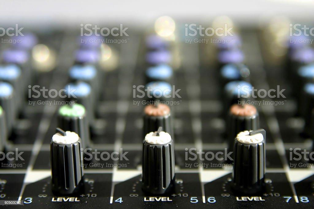 Mixing desk 2 stock photo