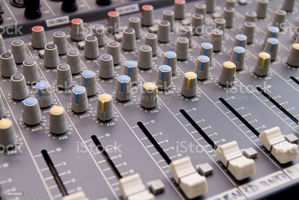 mixing desk - Mischpult royalty-free stock photo