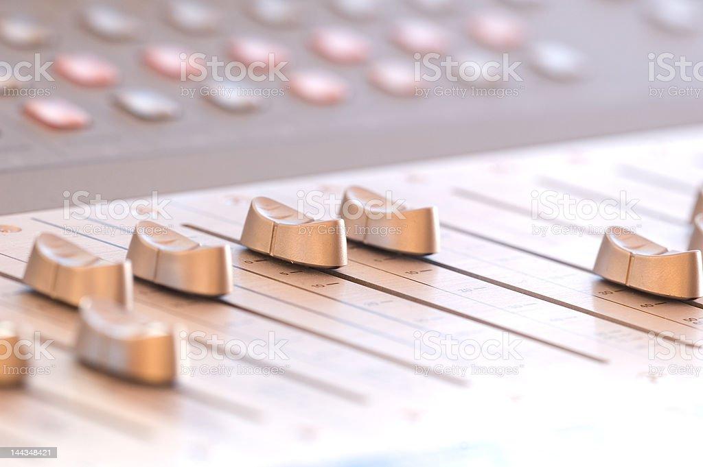Mesa de mixagem foto royalty-free