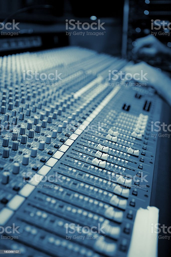 Mixing Desk royalty-free stock photo