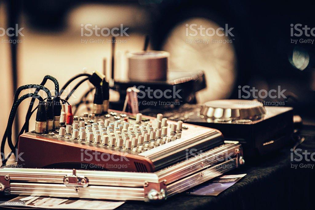 Mixing desk stock photo