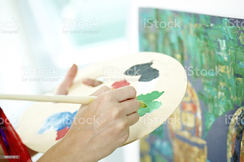 Mixing different colors royalty-free stock photo