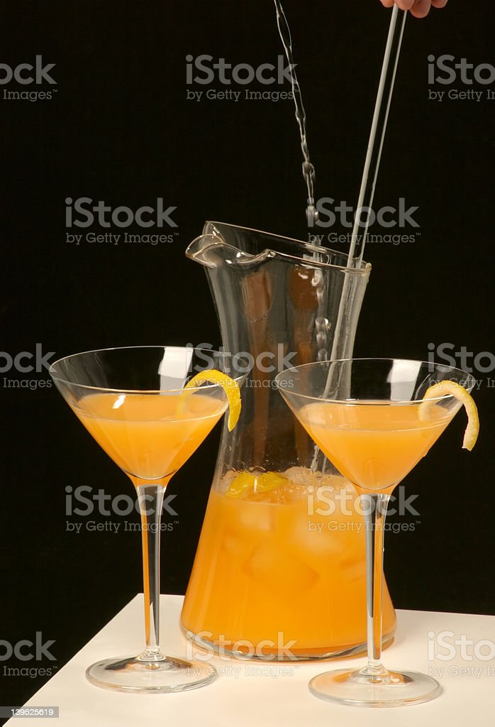 Mixing drink royalty-free stock photo