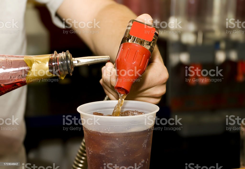 Mixing Drinks royalty-free stock photo