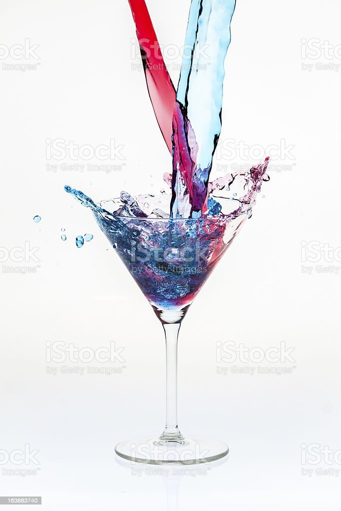 Mixing drinks with a splash royalty-free stock photo