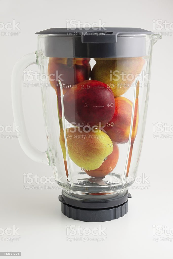 mixing fruit royalty-free stock photo
