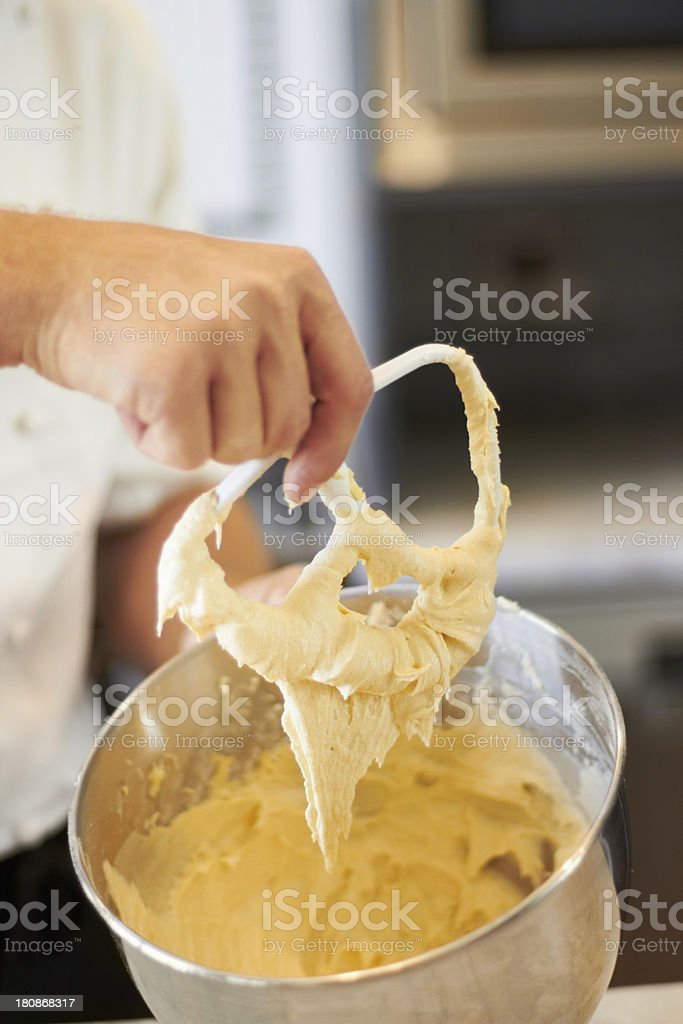 Mixing it until it's smooth royalty-free stock photo