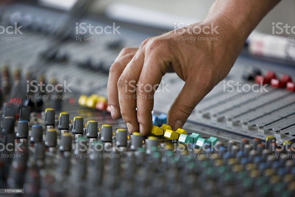 Mixing music royalty-free stock photo