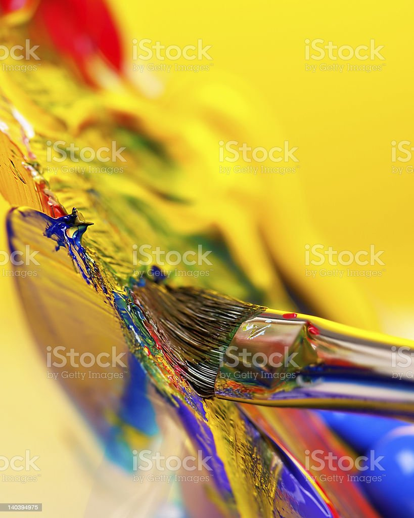 Mixing paint royalty-free stock photo