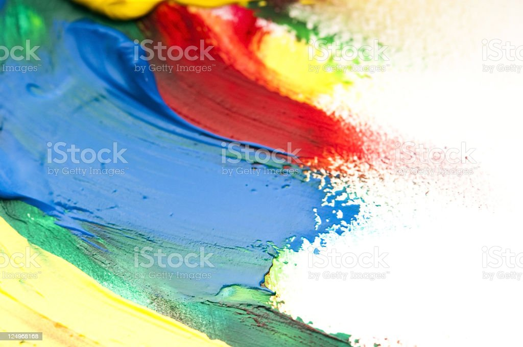mixing paints stock photo