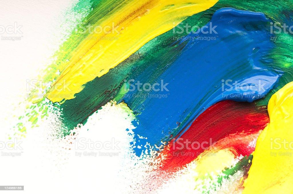 mixing paints stock photo