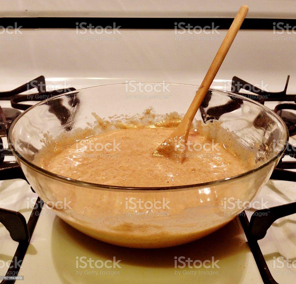 Mixing Raw Ingredients stock photo