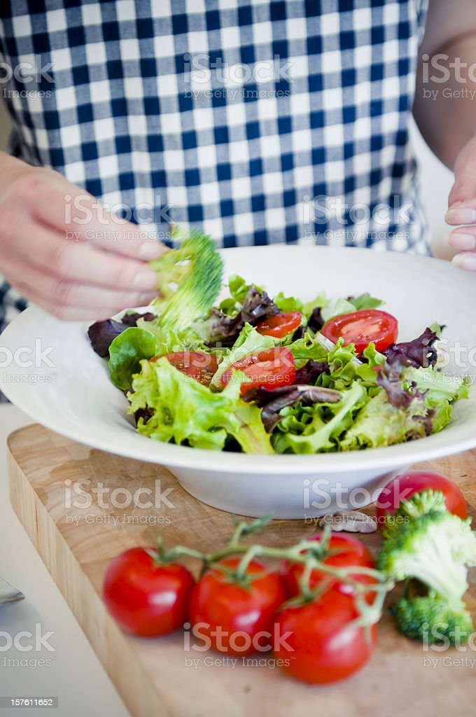 Mixing salad royalty-free stock photo