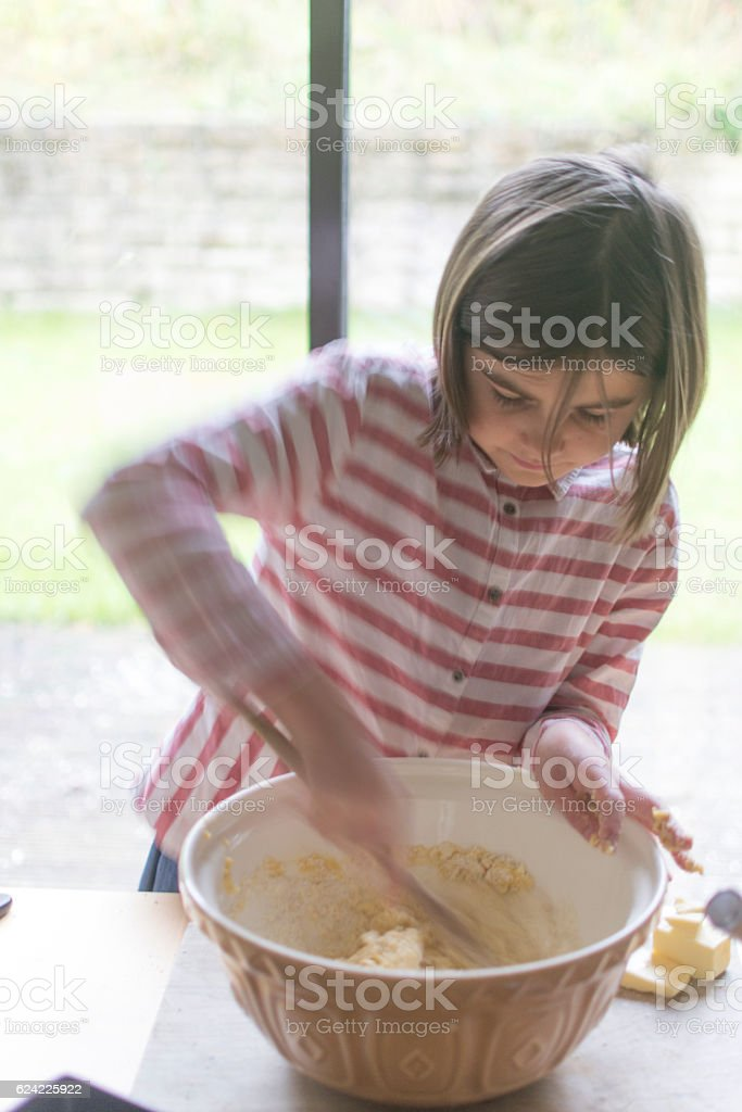 Mixing the ingredients stock photo