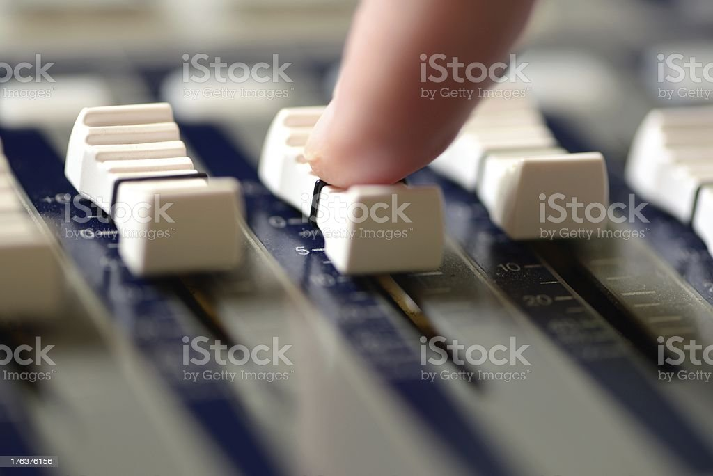Mixing the music. royalty-free stock photo
