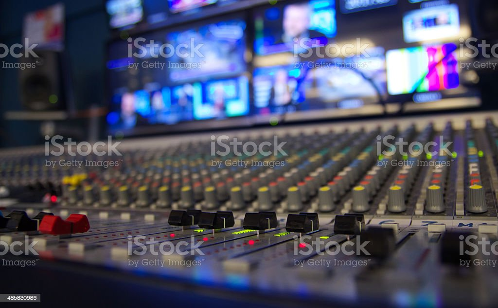 Mixing the news stock photo
