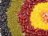 Mixture of beans, peas background