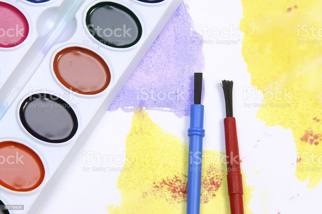 Mixture of colors stock photo
