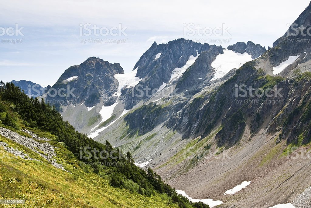 Mix-Up Peak and Stehekin River Valley royalty-free stock photo