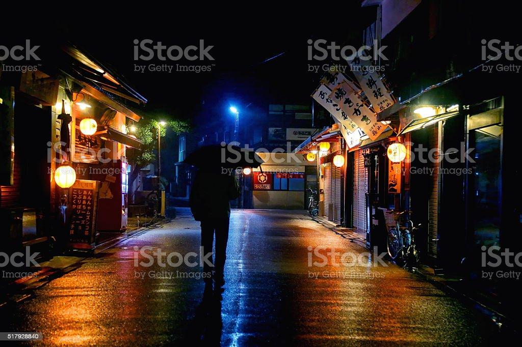 Miyajima at Night stock photo