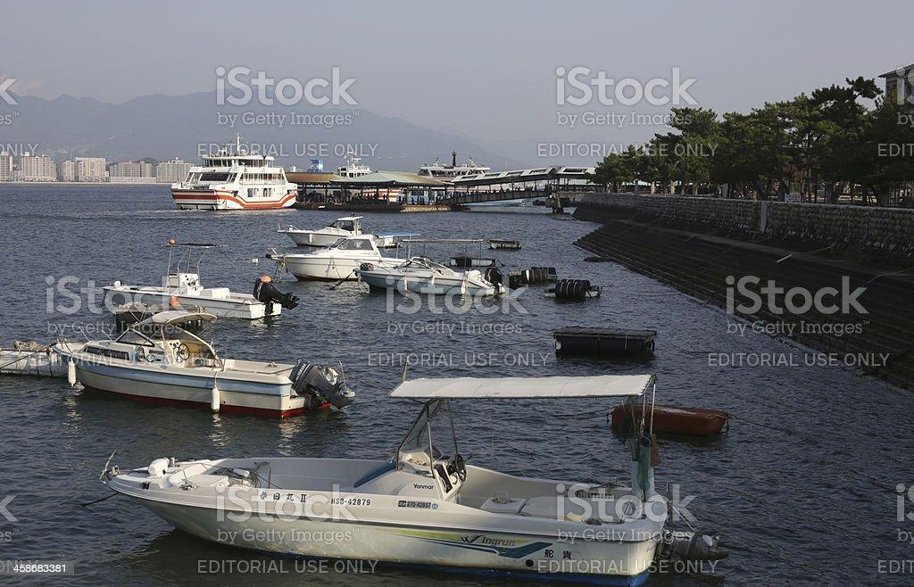 Miyajima Ferry Terminal, Itsukushima, Hiroshima Prefecture, Japan royalty-free stock photo