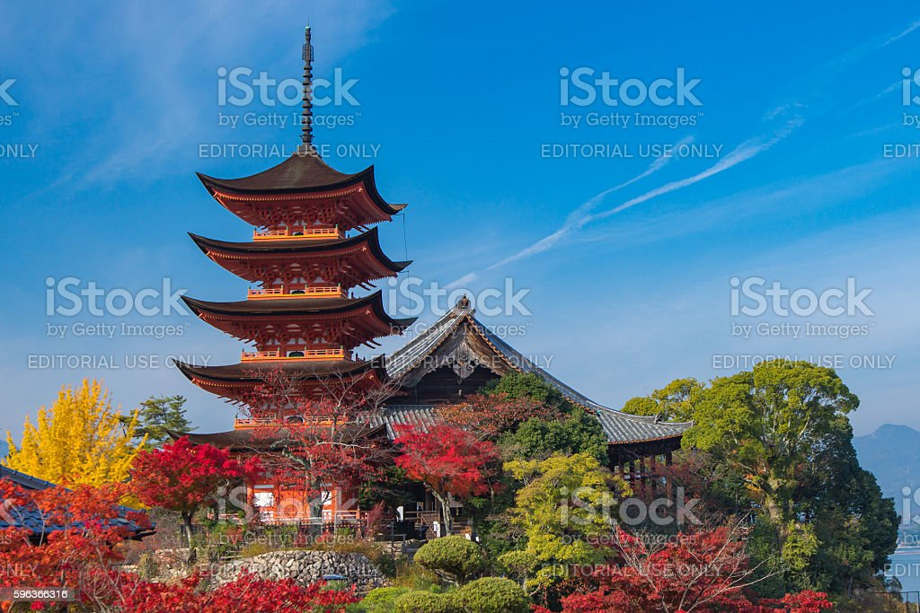 Miyajima in autumn stock photo