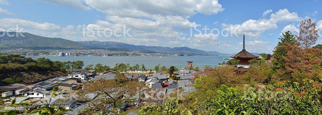 Miyajima Island and Hiroshima, Japan stock photo