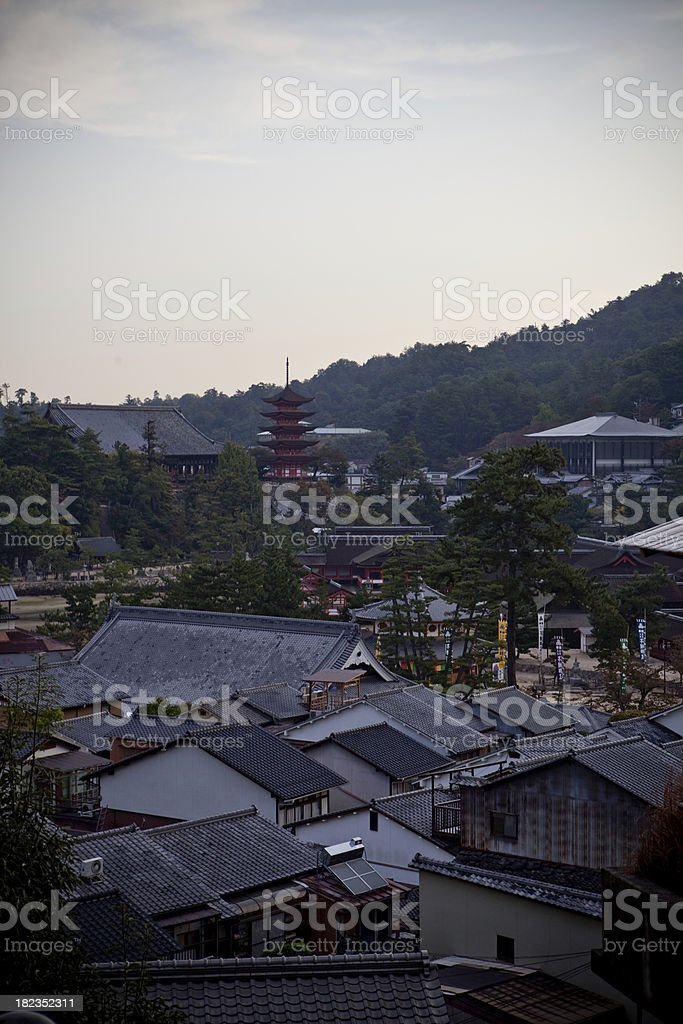 Miyajima Island at dawn royalty-free stock photo