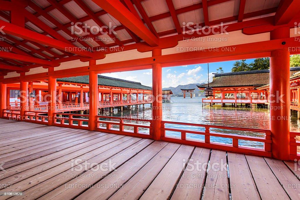 Miyajima Shrine Japan stock photo