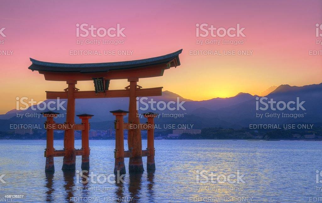 Miyajima Tori Gate royalty-free stock photo