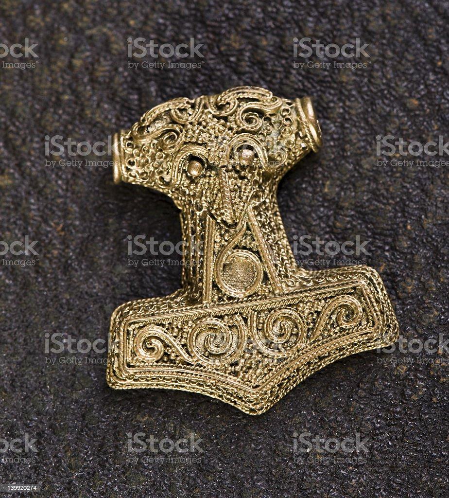 Mj?lnir-  Thor's Hammer stock photo