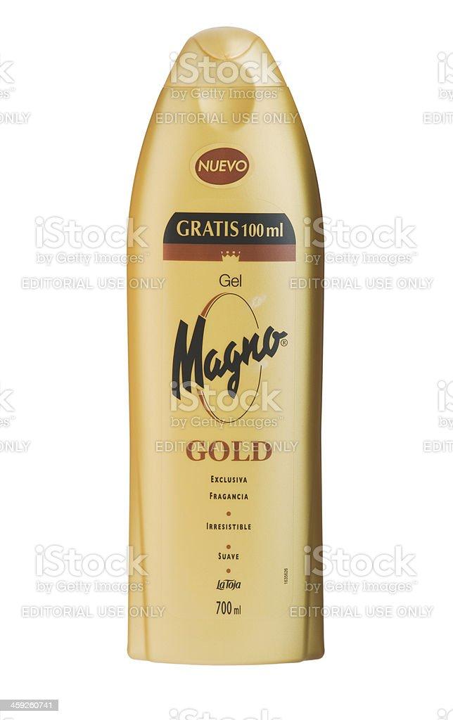 700 ml Magno liquid soap isolated on white. royalty-free stock photo