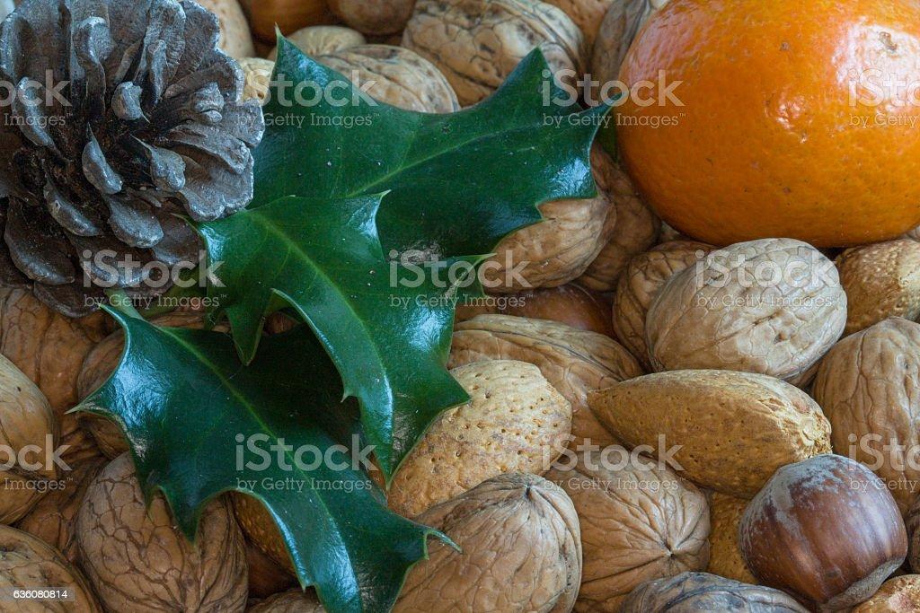 Mélange de fruits secs en gros plan stock photo