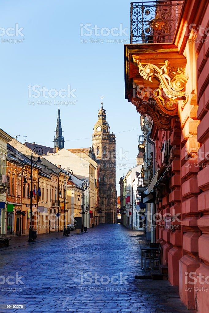 Mlynska street, Kosice, Slovakia stock photo
