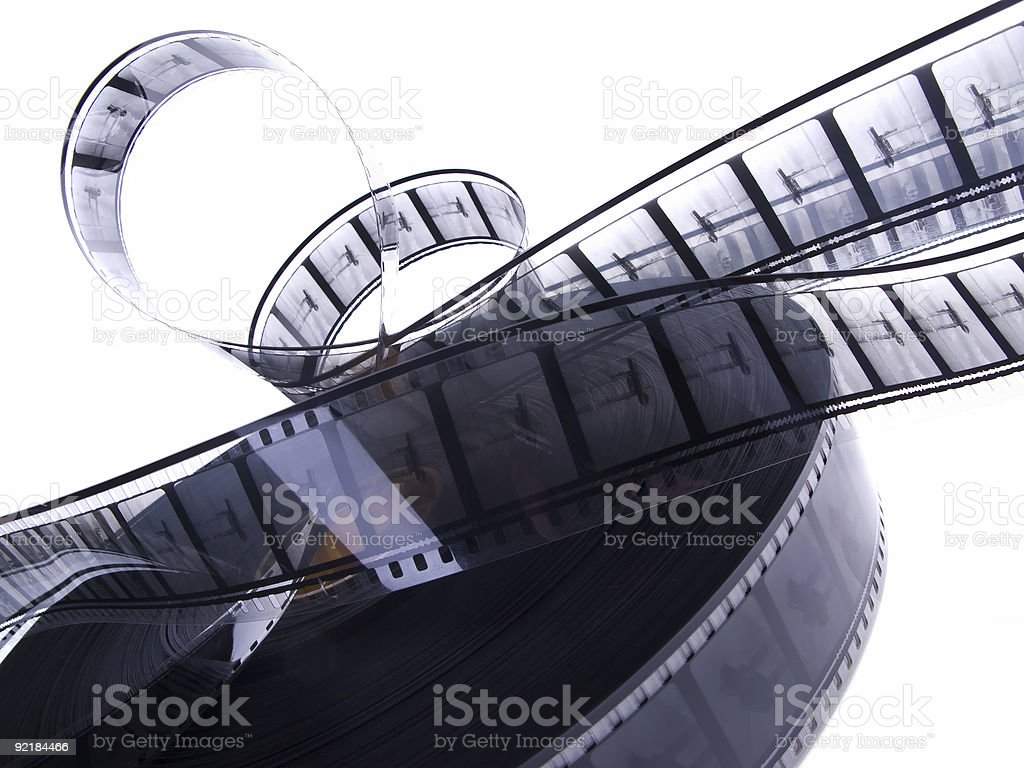 35 mm black and white film reel 2 stock photo