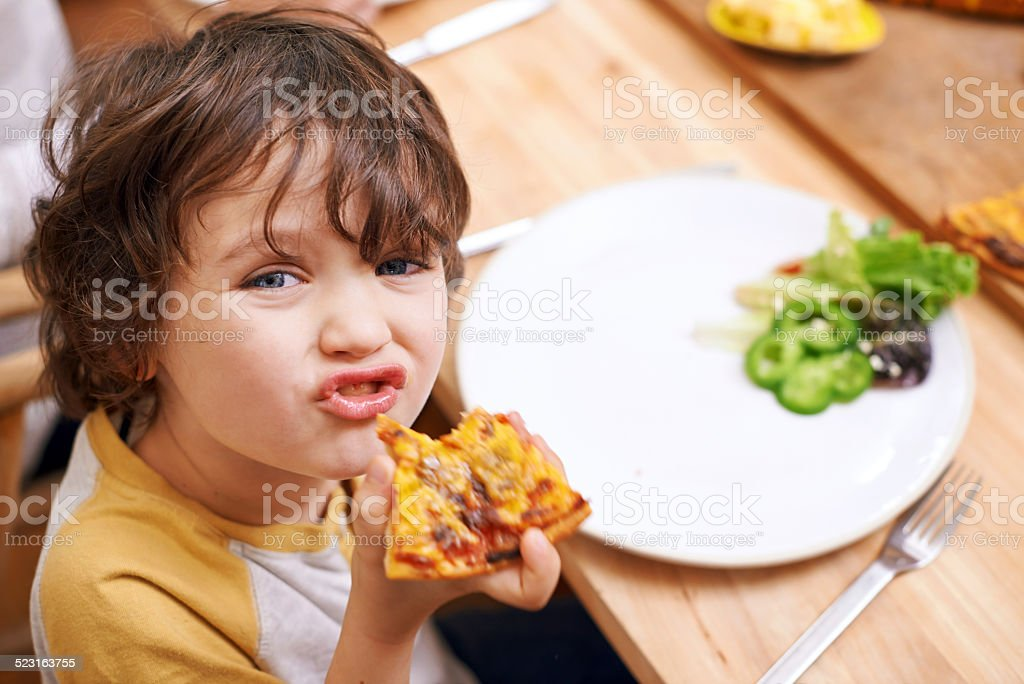 Mmm, delicious! stock photo