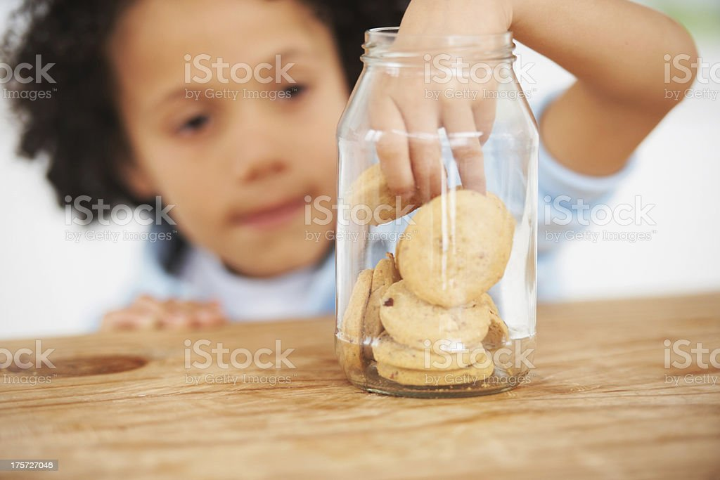 Mmm, so many cookies just for me royalty-free stock photo