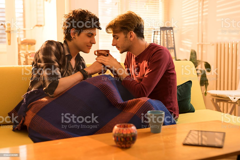 Mmm, this coffee smells great! stock photo
