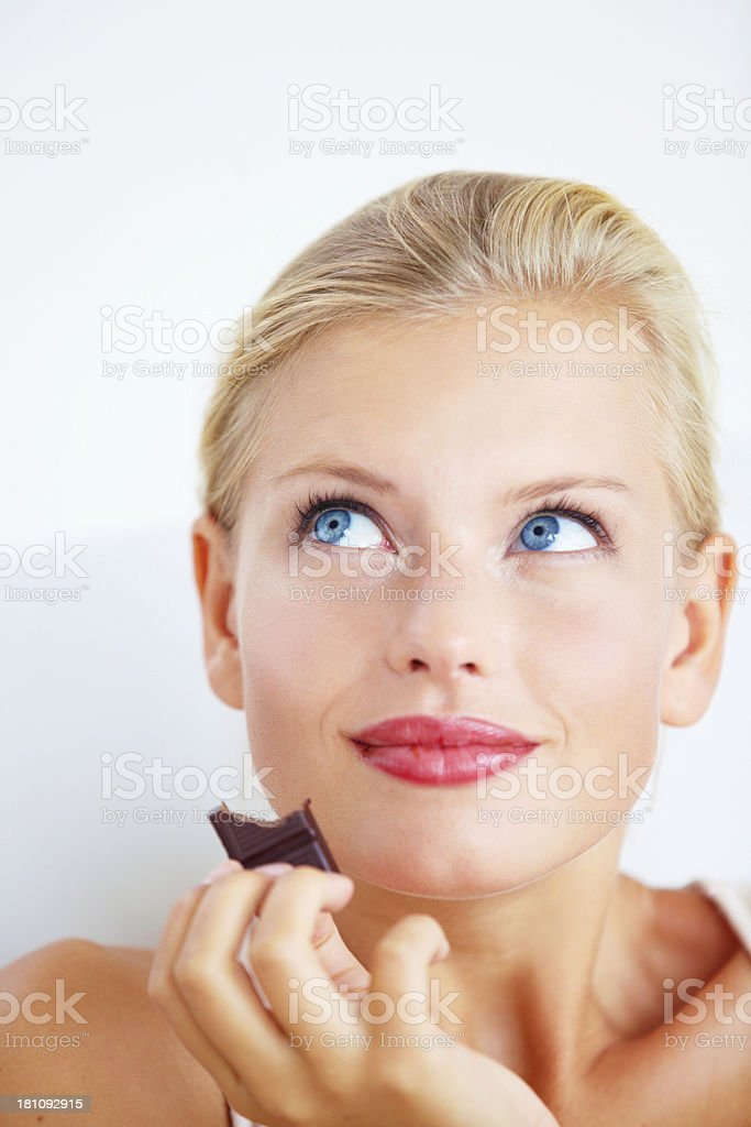 Mmm, this is heavenly! royalty-free stock photo