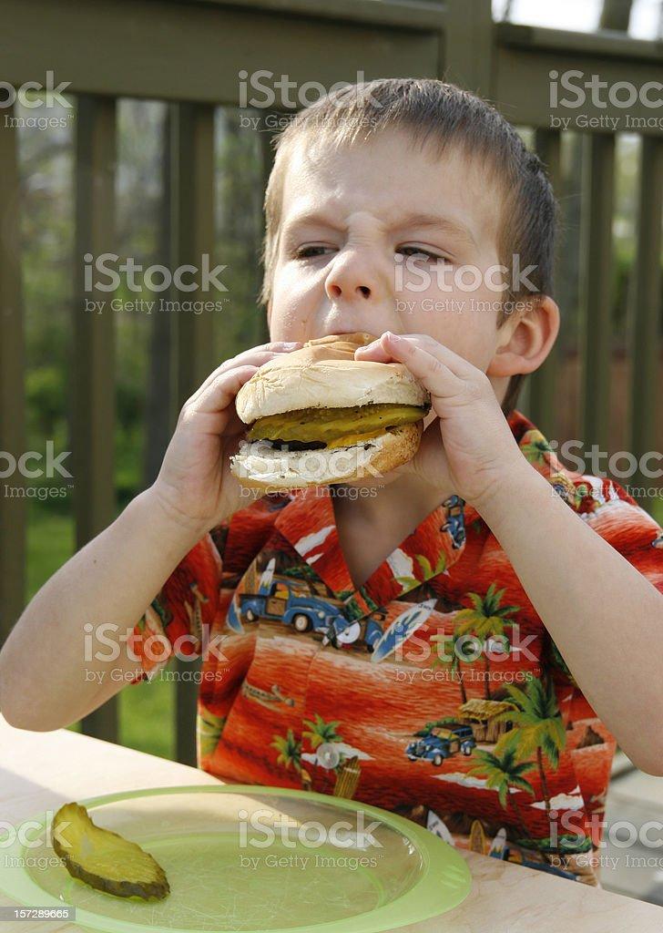 ....mmmm....burger.... royalty-free stock photo