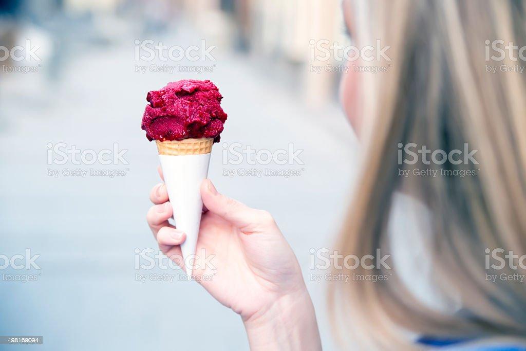 mmmm...ice cream! stock photo