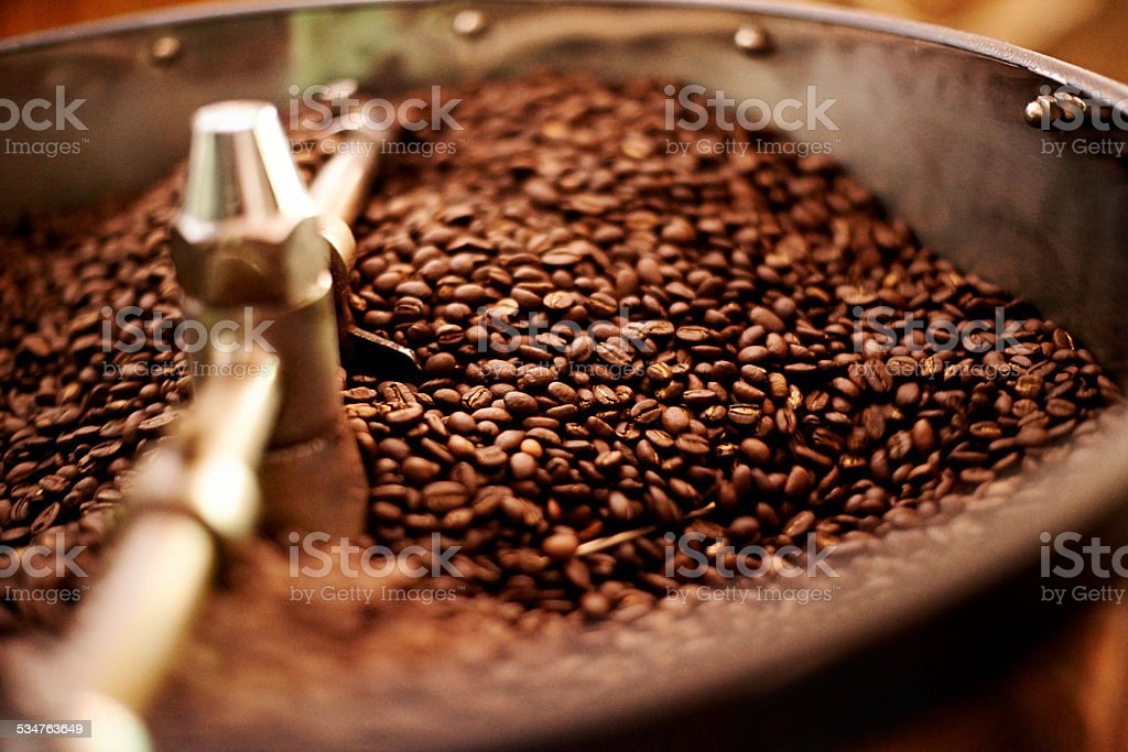 Mmmmm wake up and smell the ... ? stock photo