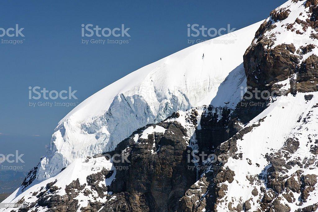 M?nch Glacier, Swiss Alps royalty-free stock photo