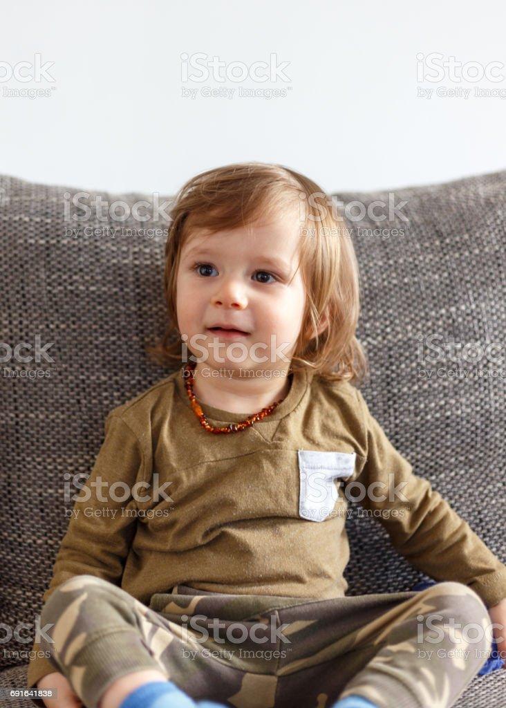 Männliches Baby stock photo