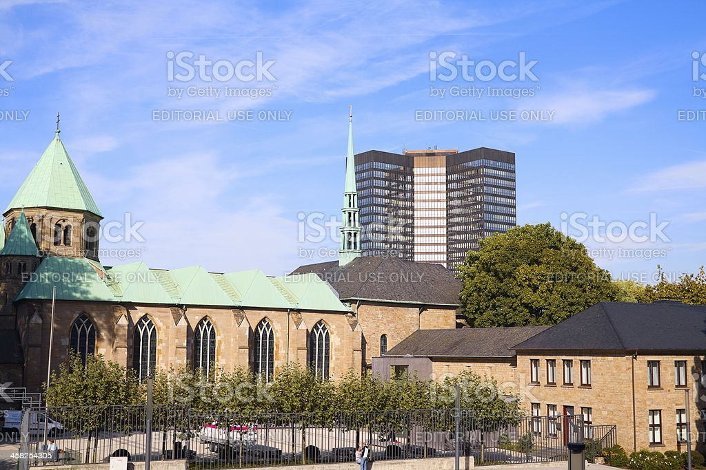 Münster and town hall of Essen royalty-free stock photo