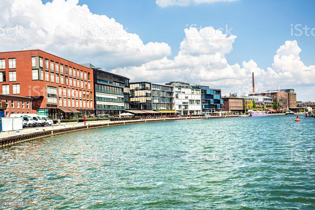 M?nster harbor (Nordrhein Westfalen) stock photo