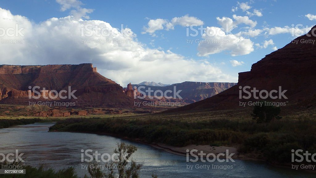 Moab in Fall stock photo