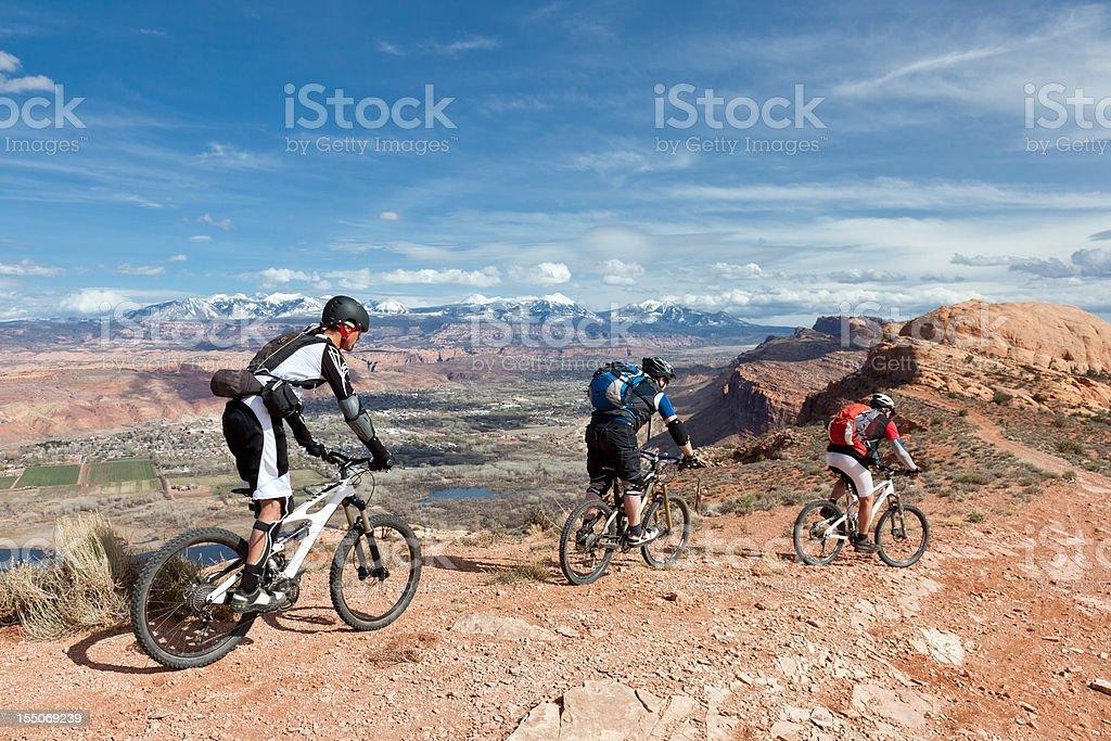 Moab scenic biking, Utah royalty-free stock photo