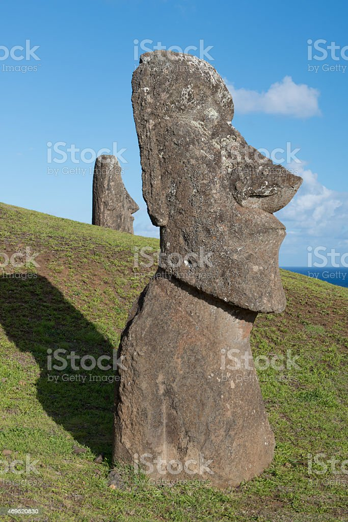 Moai at Easter Island (Rapa Nui) stock photo
